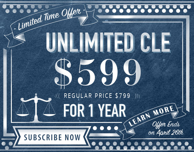 Unlimited CLE $599